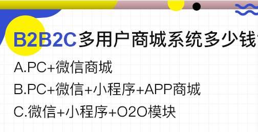 上海B2B2C电子商务系统开发多少钱